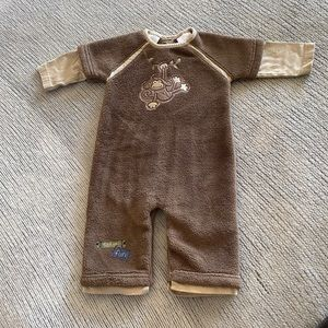 Monkey Fleece Baby Jumpsuit One Piece Outfit